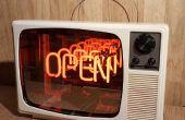 1970er Jahre Neon Infinity TV