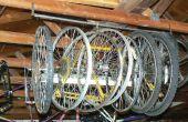 Schnelle und einfache Dachsparren montiert Fahrradkeller Rad
