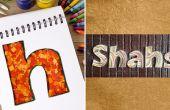 Wie erstelle ich personalisierte Namensschilder mit Konfetti | DIY-Quilled Papier schreiben | Inneneinrichtungen