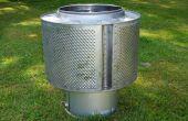 Garten-Lagerfeuer Wiederverwendung eine Waschmaschine Trommel