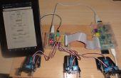 Himbeer Webserver senden Daten abrufen an Arduino Nano 6 Servos fahren