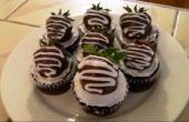 Klassische Erdbeere Schokolade Cupcakes