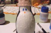 Umwandlung einer alten Lampe in einem schönen Pinguin