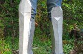 Wie Greaves (Beinrüstung) machen Sie aus Pappe