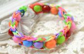 Wie erstelle ich Rainbow Gummiband Armband mit Acryl-Perlen