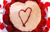 Roter samt Valentinstag Herz Kuchen