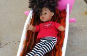 Befestigung eine kaputte Puppe Bett