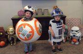BB-8 und R2-D2 - Star Wars-Kleinkind-Halloween-Kostüme