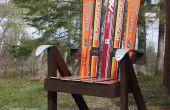 Bauen Sie einen Liegestuhl aus recycelten Ski - Ski-Stuhl!