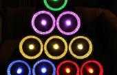Pie Zinn Weihnachtsbaum mit GE Farbe Effekte LED-Leuchten