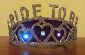 """Blinkenden LED """"Braut"""" Bachelorette Tiara"""