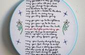 """Stickerei """"Forever Young"""" von bob Dylan"""