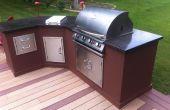 Outdoor-Küche mit Beton Arbeitsplatten