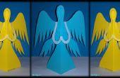 Engel geschnitten und gefalteten Papier