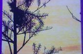 Sonnenuntergang-Gemälde/Marker