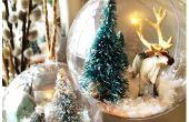 Snow Globe Ornamente - Arctic Theme