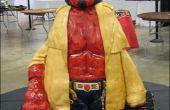 Wie erstelle ich einen geformten Hellboy Kuchen