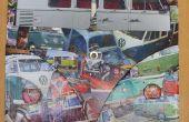 VW Camper Decoupage benutzerdefinierte Bulli van Bus luftgekühlten Uhr Bilderrahmen.