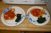 Dazu Tomaten Chutney w / verwelkt Grüns für 2