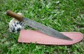 Wie erstelle ich eine Messerscheide aus Leder