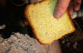Mit Brot ein undichtes Kupferrohr Schwitzen