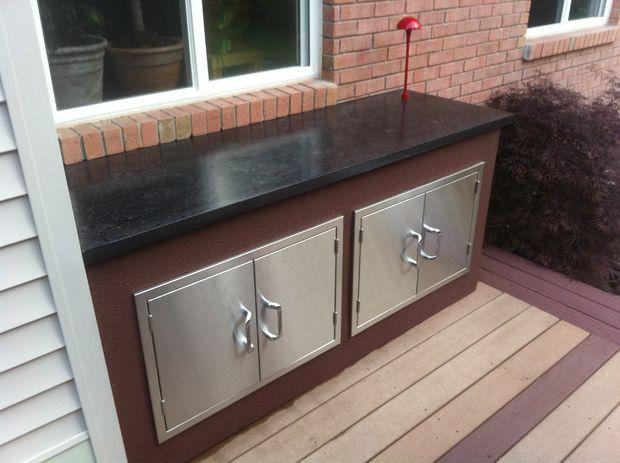Outdoor Küche Beton Arbeitsplatte : Outdoor küche mit beton arbeitsplatten genstr