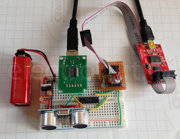 Ultraschall Entfernungsmesser Schaltplan : Reden zum ultraschall abstand sensor hc sr04 mit einem attiny84