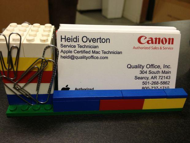 Lego Visitenkarten Etui Mit Magnetisiert Büroklammer Halter
