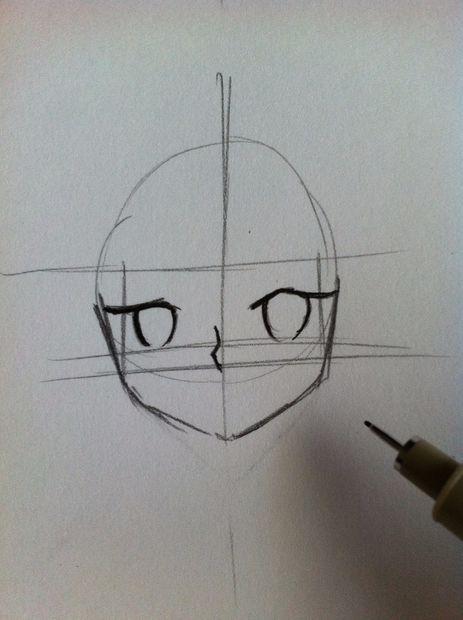 Gewusst Wie Zeichnen Sie Ein Anime Gesicht Weiblich Schritt 10