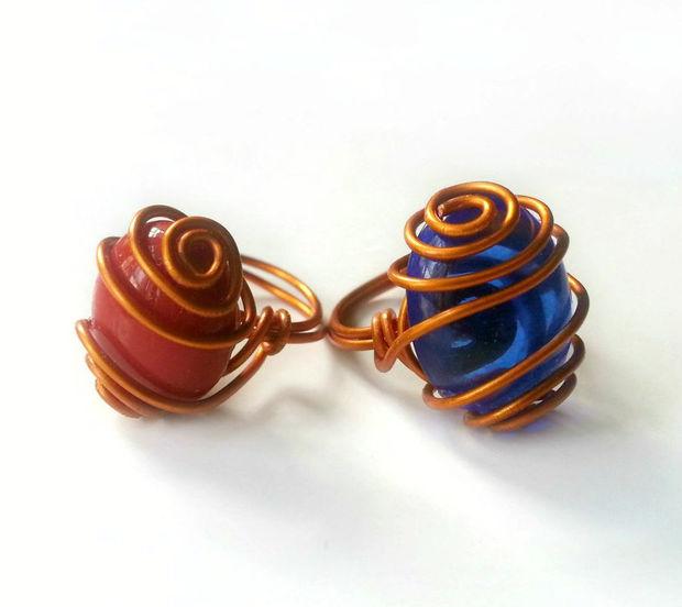 DIY-Draht gewickelt Edelstein-Ring - genstr.com