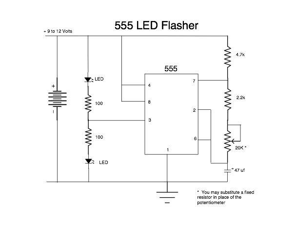 555 LED Flasher - START - genstr.com