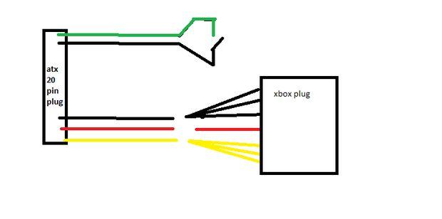 Xbox 360 Netzteil für ein Atx pc-Netzteil / Schritt 1: Schaltplan ...
