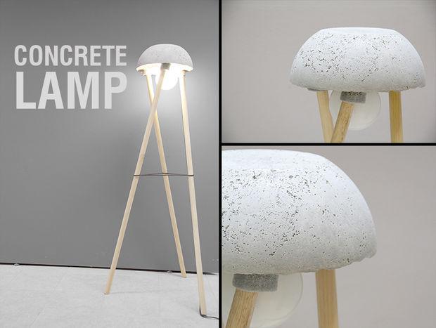 Beton-Lampe - DIY - genstr.com