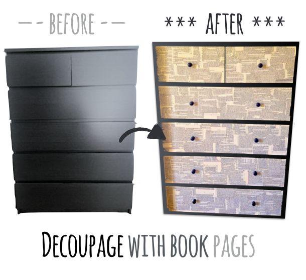Verschonern Sie Eine Ikea Malm Kommode Mit Decoupage Technik