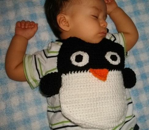 Ein Pinguin Lätzchen Häkeln Schritt 4 Häkeln Schnabel Flügel Und