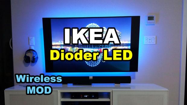 ikea dioder led streifen drahtlose mod. Black Bedroom Furniture Sets. Home Design Ideas