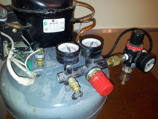 Aufbau Kühlschrank Kompressor : Super silent kompressor gebaut von einer alten kühlschrank wasser