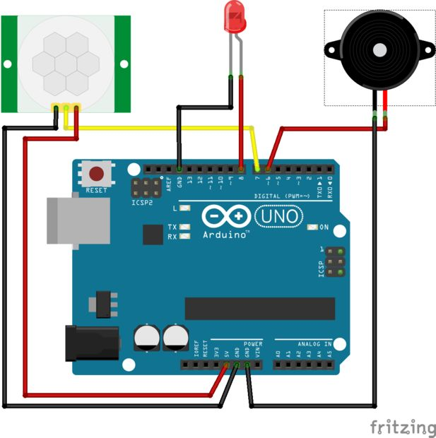 Arduino - PIR MOTION Detektor DSN-FIR800 - RCW 0506 / Schritt 1 ...