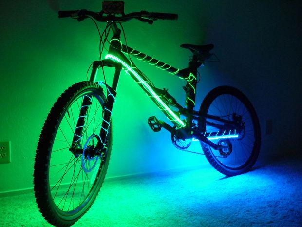 Elektrolumineszenz-Mountain Bike - genstr.com