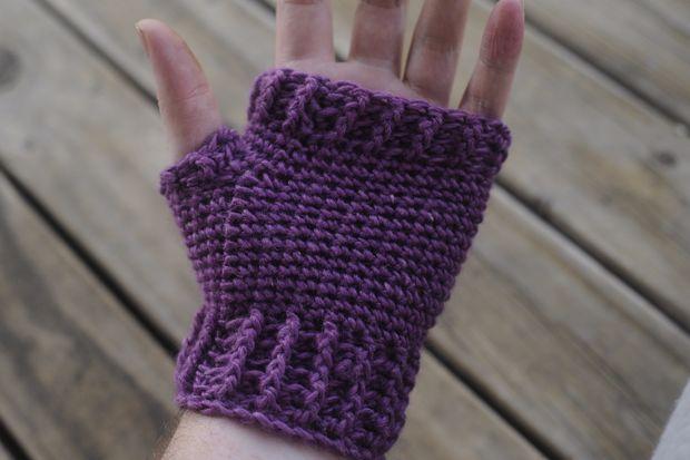 Gewusst wie: Erwachsene fingerlose Handschuhe häkeln / Handschuhe ...