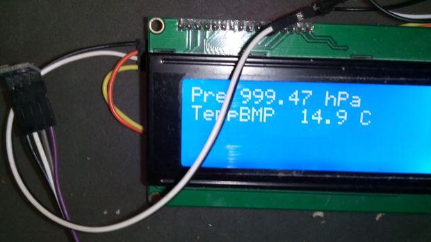 Ultraschall Entfernungsmesser I2c : Lesen des bmp180 drucksensors mit einem attiny85 und fügen sie eine