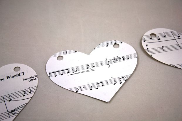 Musik Noten Herz Girlande / Schritt 3: Herz mit Cricut ...