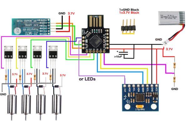 Arduino-micro-Quadcopter / Schritt 4: Schaltplan - genstr.com