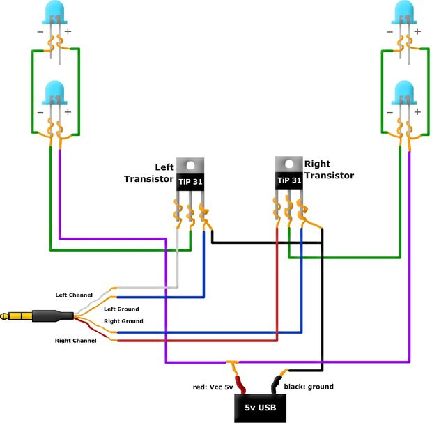 Musik LED Licht Box geändert Schaltplan - genstr.com