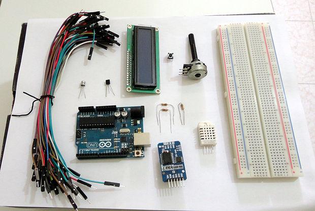 Thermohygrometer mit uhr und lcd display auf arduino uno genstr