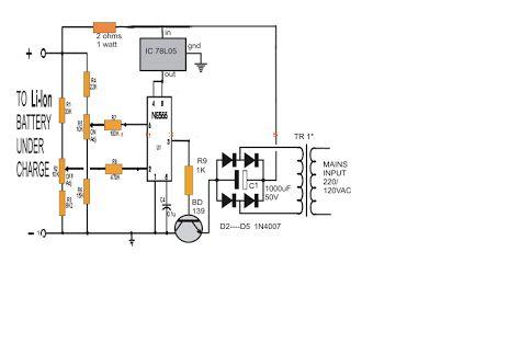 Lithium Ionen Akku Ladegerat Schaltung Mit Ic 555