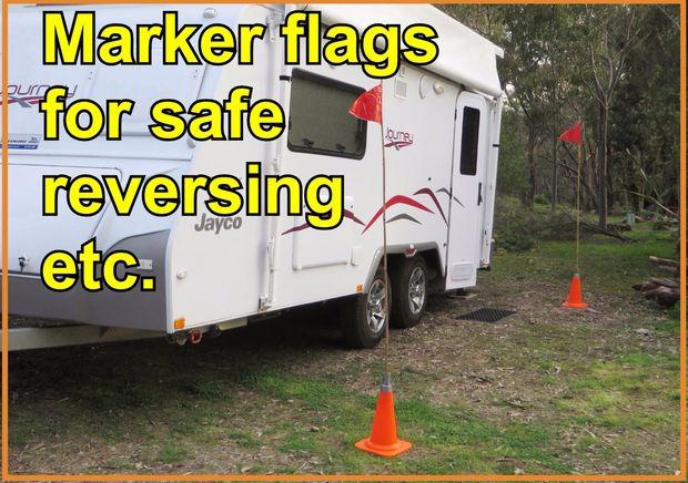 Markierungs-Markierungsfahnen für Rückwärtsfahren PKW/Anhänger ...