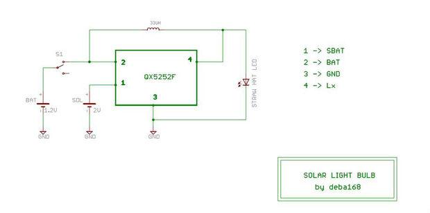 BAUEN Sie eine nächtliche SOLAR Glühbirne / Schritt 2: Schaltplan ...