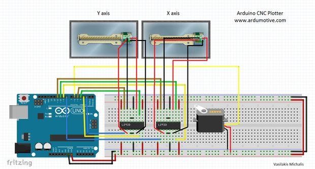 Mini CNC Plotter - basierten Arduino / Schritt 6: Die Schaltung ...
