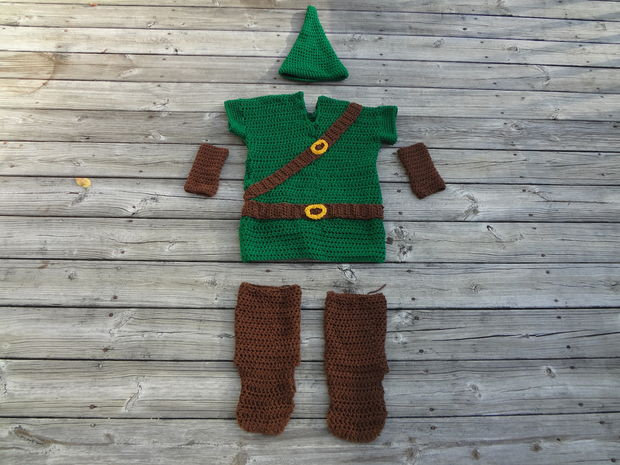 Großes Kind / Erwachsener Legend of Zelda Link Kostüm häkeln ...